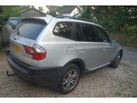 BMW x3 2l diesel, 6 gear manual, leather seats, great car, drives well