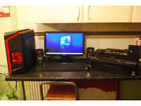 """Dell 545 / F3 Quad Core 2.33GHz, 4GB RAM, 500GB HDD, Power Color R7 260X, 20"""" Monitor, Speakers..."""