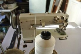 TYPICAL industrial Walking foot Sewing machine (SEE 6 LAYERS OF LEATHER SAMPLE SEWN