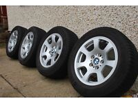 "BMW 16"" WINTER TYRES AND ALLOY WHEELS"