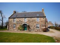 ATTRACTIVE 4 BED COUNTRY DETACHED HOUSE with open outlooks HOUSE TO LET, UNFURNISHED