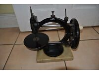 Antique 1870s Wanzer Time Utilizer Sewing Machine on Marble Base