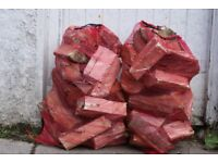 Fire Wood / Hard Wood Blocks / Logs for Sale in Large 75cm * 25cm Netted Bags