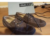 Never worn Clarks brown shoes size 7