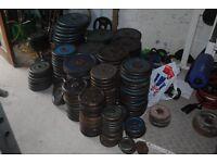 """Standard 1"""" Weight Plates - £1/KG - 20KG - 1.25KG - WEIGHTS GYM"""