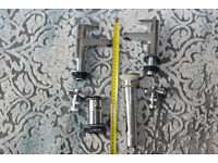 sink taps and 2x sink drains, new