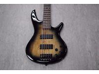 Ibanez GSR205SM 5-String Bass in Natural Grey Burst £175