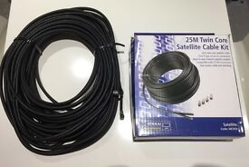 25 metres - Twin Core Satellite Cable Kit