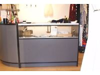 Till desk and display cabinet