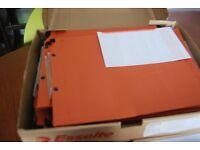 Lateral file hanging folder