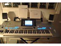 Yamaha Tyros 4 with MS04 speaker system, stand, pedals, bench - everything you need.