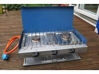 Camping Stove, 2 burners and grill