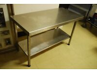 stainless steel table 1220mm x 580mm x 740mm