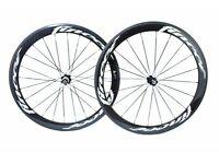 Fincci TM Carbon Bike Bicycle Wheels Wheelset 700c Road Racing 52mm Clincher New Basalt Braking Line
