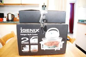 Halogen cooker with extension kit and Electric Potatoe Peeler