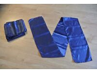 11 Table runners, navy blue, 0.3x2.7m