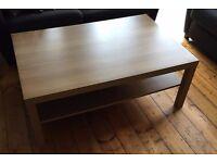 Large Coffee table, oak effect - £10