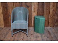 Lloyd Loom chair & basket Brighton vintage bathroom hall home armchair decorative gplanera