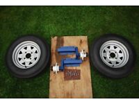 Trailer 7cwt suspension units with wheels