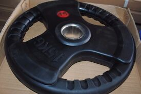 Brand New Rubber Coated Olympic Weight Plates - Gym