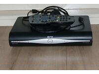 Sky plus hd box with remote and hdmi cable