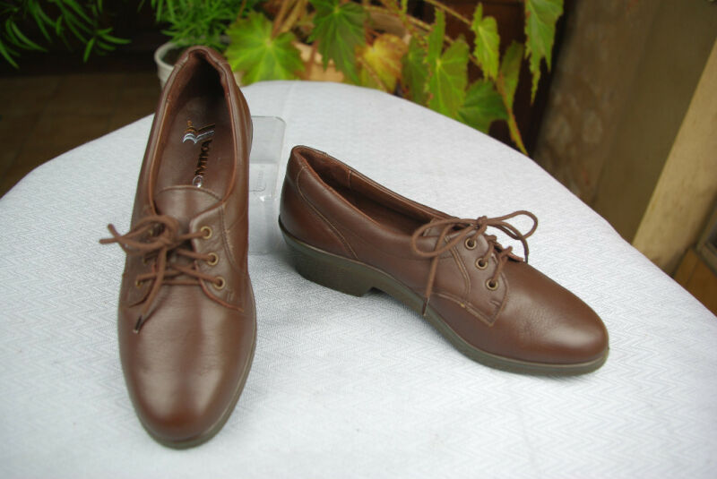 Shoes lace Comfort ROMIKA Brown Leather T 36,5 Mint