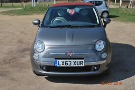 Fiat 500C 1.2 Lounge convertible '63 plate £6,450