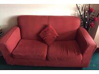 Terracotta Sofa and Sofa Bed