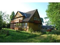 A substantial house with 2 acres of land close to last primeval forest in north-east Poland