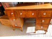 Old Desk / Dressing Table Walnut veneer