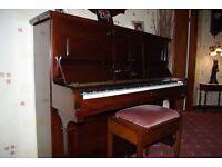 CRANE MAHOGANY PIANO IN GOOD CONDITION