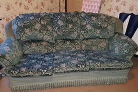 Sofa and matching armchair