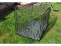 """DOG/PUPPY CAGE 4' L x 2'6"""" W x 2'8"""" H COMPLETE WITH BED"""