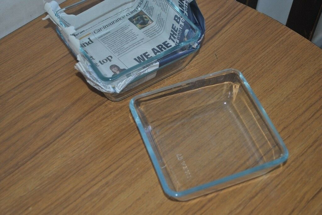 3 Oven/serving dish MIXTUR Clear glass 15x15 cm