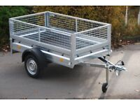 Car trailer 6x4 with mesh sides, single axle 750kg