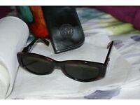 Genuine Versace mens vintage tortoiseshell sun glasses unworn.