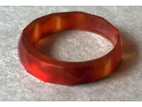 carved carnelian band ring