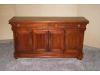 Oak Sideboard velvet lined drawers