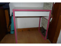 IKEA pink and white desk