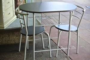 3 pieces breakfast dining set, round glass table price $99 Rockdale Rockdale Area Preview