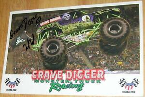 Personally Autographed  Grave Digger Monster Truck Racing Poster