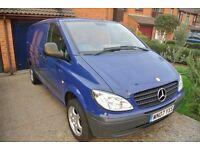 Mercedes Vito 111 2007 Blue, Alloy wheels, LWB, 2.2 CDI 136bhp - needs repair