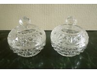 Pair of Crystal Dressing Table Accessories.