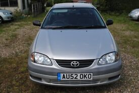 TOYOTA AVENSIS VERMONT 1.8 PETROL HATCHBACK 2002 MOT S/H ONLY £875