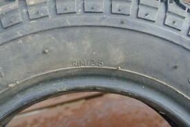 Trailer Tyre 3.50 - 8 Kings Tyre (Part used)