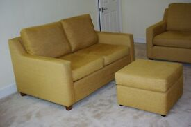 John Lewis Bizet Style Two Seater Fabric Sofa & Footstool