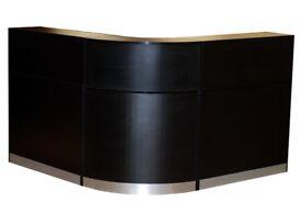 Reception Desk in Black Matt-1600mm/Ref:0419