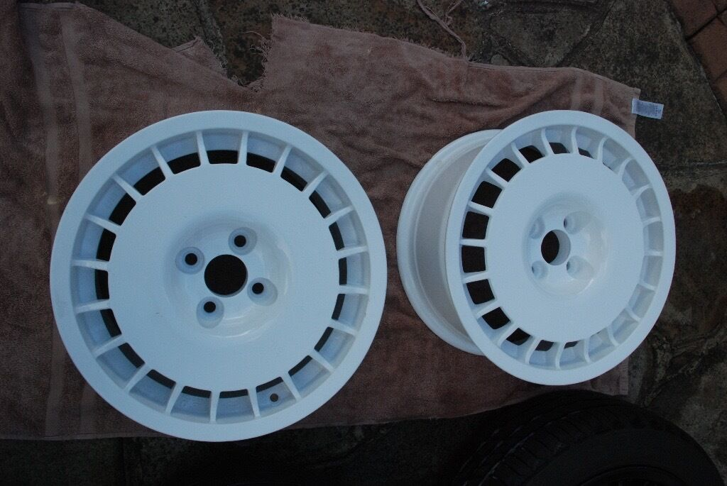 O Z Rally Route Wheels 15 Quot 4x100 Et 27 7j Pair Only