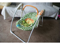 """My Jungle Family"" Baby swing chair/ rocker from Mothercare"