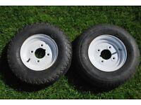 """Two 8"""" trailer wheels"""